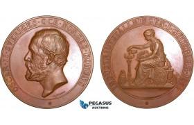 AB589, Sweden, Bronze Medal 1891 (Ø56.5mm, 82.7g) by Lindberg, Owl, Goteborg Industrial Exhibition