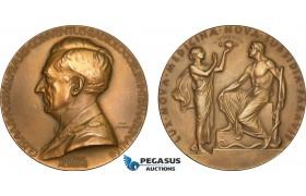 AB590, Sweden, Art Nouveau Bronze Medal 1928 (Ø65.5mm, 94.4g) by Lindberg, Radiology International Convention