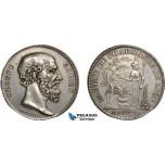 AB931, France, Silver Token Medal 1806 (Ø30.5, 10.69g) by Chavanne, Lyon Pharmacy Society, Claudius Galen, Medicine, Owl