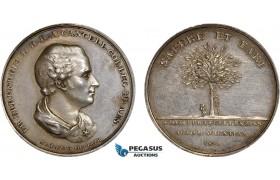 AB944, Sweden, Silver Medal 1829 (Ø31mm, 12.75g) Fredrik Ehrenheim, Science Academy, Owl