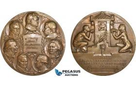 AB950, Sweden, Bronze Art Nouveau Medal 1908 (Ø70mm, 148g) by Lindberg, Swedish Medical Association Centenary