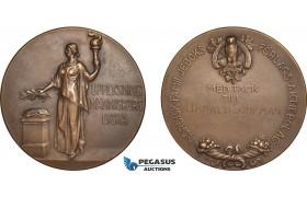 AB954, Sweden, Bronze Medal ND (Ø45mm, 40g) Owl, Stockholm Book Publisher