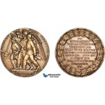 AB955, Sweden, Russia & Poland, Bronze Medal 1926 (Ø56mm, 80g) by Johnsson, Battles of Narva, Duna & Klizow