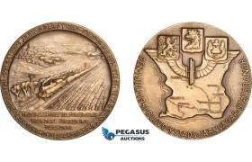 AB960, Sweden, Bronze Medal 1941 (Ø45mm, 36g) Train, Malmö – Ystad Railroad