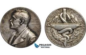 AB961, Sweden, Silver Medal, Alfred Nobel, Undated (Ø27mm, 12.21g) Swedish Medical Society