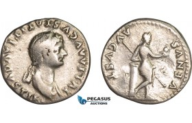 AB985, Roman Empire, Julia Titi, daughter of Titus (AD 79-89) AR Denarius (2.89g) Rome, AD 80-81, Venus, Rare!