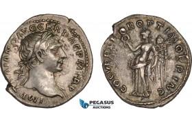 AB992, Roman Empire, Trajan (AD 98-117) AR Denarius (3.14g) Rome, AD 103-111., Victory