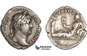 "AB995, Roman Empire, Hadrian (AD 117-138) AR Denarius (3.12g) ""Travel series"" Rome, AD 134-138, Aegyptos"