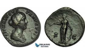 AB999, Roman Empire, Faustina II (AD 147-175) Æ Sestertius (26.63g) Rome, AD 161, Diana