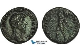 AC003, Roman Empire, Lucius Verus (AD 161-169) Æ As (11.57g) Rome, AD 164, Mars