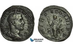 AC018, Roman Empire, Philip I Arab (AD 244-249) Æ Sestertius (15.92g) Rome, AD 248, Felicitas