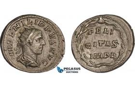 AC020, Roman Empire, Philip I Arab (AD 244-249) BL Antoninian (3.92g) Rome, AD 247-249, Felicitas