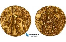 AC096, India, Kushan Empire. Shaka (AD 325-345) AV Dinar (7.71g) Mint I (A) UNC