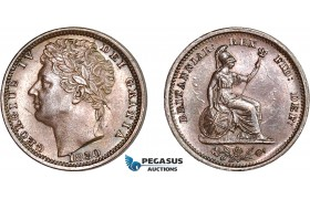AC105, Great Britain for use in Ceylon, George IV, 1/2 Farthing 1830 (Type A) UNC (Faint hairlines)