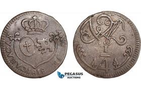 AC129, Venezuela, Caracas, 1/4 Real 1818, XF