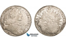AC136, Germany, Bavaria, Maximilian III. Joseph, Taler 1773-A, Amberg, Silver (27.99g) Lustrous XF