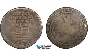 AC138, Germany, Mansfeld, David, Taler 1611, Eisleben, Silver (25.40g) Good-Fine, Toned