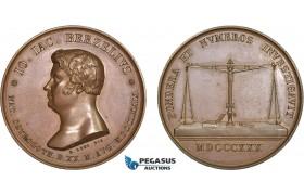 AC172, Sweden, Bronze Medal 1830 (Ø41mm, 45.6g) by Loos, Berzelius, Medicine & Pharmacy