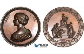 AC173, Sweden, Bronze Medal 1848 (Ø79mm, 269.2g) by Lundgren, Jenny Lind, Rare!