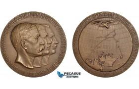AC183, Sweden, Bronze Medal 1930 (Ø56mm, 71g) by Ohlson, Arctic Balloon Polar Expedition