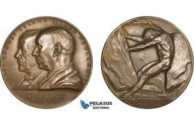 AC185, Sweden, Bronze Medal 1939 (Ø57mm, 70g) by Lindberg, Alfred Nobel, Nitroglycerin