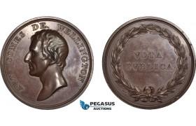 AC200, Great Britain, Bronze Medal 1812 (Ø54mm, 84g) by Webb, Duke of Wellington, Rare!