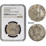 AC716, Hungary, Leopold, 15 Krajczar 1663-KB, Kremnitz, Silver, NGC AU Details