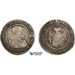 AC848, Hungary, Rudolf II, 1/4 Taler 1594/3, Kremnitz, Silver (6.90g) Toned aVF