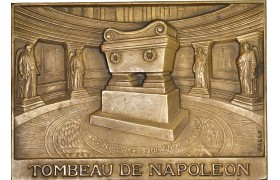 AD096, France, Bronze Plaque Medal ND (86x61mm, 179g) by Galle, Tomb of Napoleon Bonaparte