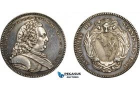 AD100, Poland & France, Silver Medal (1750) (Ø33m, 16.7g) by Borrel, Nancy Stanislas Academy