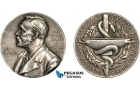 AD118, Sweden, Silver Committee Medal 1947 (Ø26.8mm, 12.2g) Alfred Nobel, Swedish Medical Society