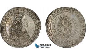 AD309, Hungary, Leopold, 15 Krajczar 1661 KB, Kremnitz, Silver (5.79g) H. 1419 (R15) Extremely Rare!