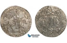 "AD319, Austria, Ferdinand I, ""Reitertaler"" Taler 1522, St. Veit, Silver (28.29g) Voglh. 30, Very Rare! VF"