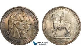 "AD411, United States, ""Lafayette"" Dollar 1900, Philadelphia, Silver, Toned UNC (Small edge bump)"