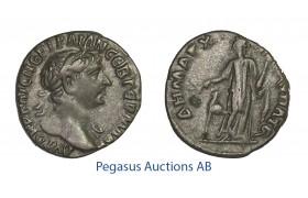 C03, Arabia Patraea, Bostra, Trajan (98-117 AD) AR Drachm (3.23g) Struck 111 AD.