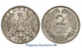 C12, Germany, Weimar, 2 Reichsmark 1926-A, Silver, Frosty High Grade!