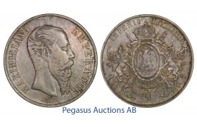 C20, Mexico, Maxilimian, Peso 1866-Mo, Beatiful toning!