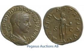 C53, Roman Empire, Gordian III (238-244) Æ Sestertius (18.03g) Rome, Struck 241-244, Sol