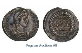 C55, Roman Empire, Constantius II (337-361 AD) AR Siliqua (2.07g) Arelate, VOTIS