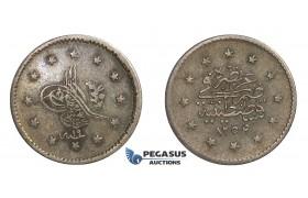D64, Turkey, Ottoman Empire, Abdülmecid, 1 Kurush AH1255/19, Silver