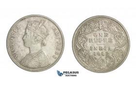 D84, British India, Victoria, Rupee 1882, Silver