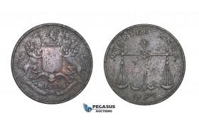 D93, British India, Bombay Presidency, 1/4 Anna 1833