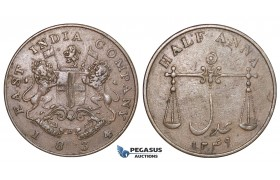 D94, British India, Bombay Presidency, 1/2 Anna 1834