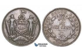 E34, British North Borneo, Cent 1888-H, Copper
