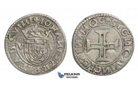 E35, Portugal, Joao III, Tostao ND, V-L, Silver (9.34g) Lisbon, V-J3.54