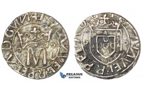 E74, Portugal, Manuel I, Vintem (20 Reis) ND, Lisbon, Silver (1.82g) Nice