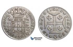 E75, Portugal, Joao VI, 400 Reis 1815, Lisbon, Silver, Very Nice!