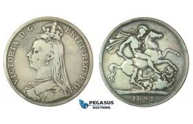 F36, Great Britain, Victoria, Crown 1892, Silver