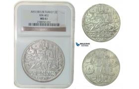 F79, Ottoman Empire, Turkey, Abdül Hamid I, 2 Zolota AH1187/8, Qustantiniya, NGC MS61