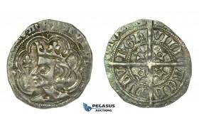 G16, Scotland, David II (1329-1371) Groat ND, Edinburgh, Silver, Nicely Toned!